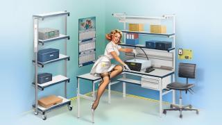 Металлическая мебель для организации рабочего процесса