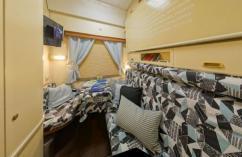 ИКЕА оформила вагон ночного поезда Москва - Санкт-Петербург