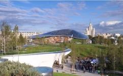 Отечественные материалы позволили завершить строительство парка Зарядье к празднованию 870-летия