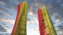 """Стальные """"радужные"""" небоскребы в Мумбаи от студии CRG Architects"""