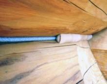 Теплый шов поможет утеплить деревянный дом