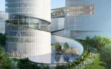 В Китае построят небоскребы с зелеными переходами в форме спирали ДНК