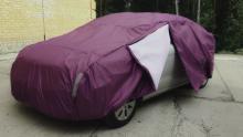 Хранение автомобиля зимой, теплый тент как альтернатива